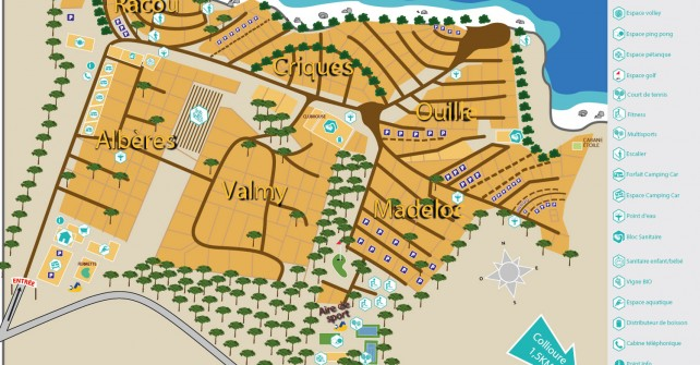 camping luxe collioure - plan du camping