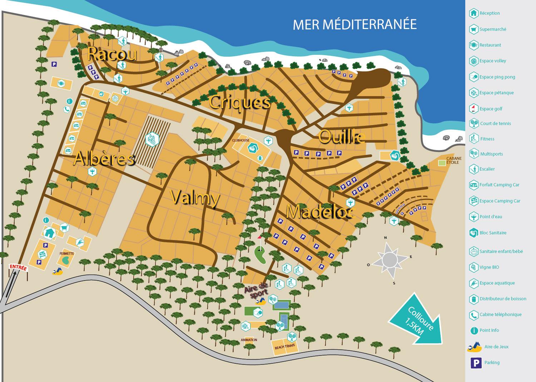 Votre emplacement de camping entre argeles sur mer et - Place de port disponible mediterranee ...